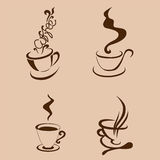 Coffe cup abstarct shape.  illustration Royalty Free Stock Photos