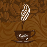 Coffe cup and background Stock Image