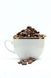Coffe cup and beans Royalty Free Stock Image