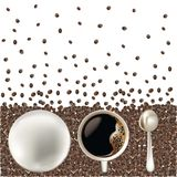 Coffe cup with clipping paths Royalty Free Stock Photos