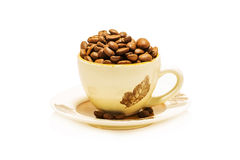 Coffe cup with coffe beans Royalty Free Stock Image