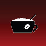 Coffe in cup color vector Stock Photo