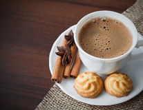 Coffe cup with cookies Stock Image