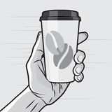 Coffe Cup in Hand Royalty Free Stock Photography