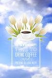 Coffe cup illustration Stock Images