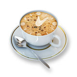 Coffe cup. Illustration of a coffe cup on a white background royalty free stock photo