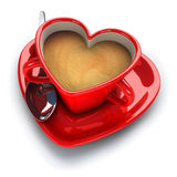 Coffe cup for lovers Stock Photography