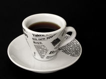 Free Coffe Cup On Black Stock Photos - 76423
