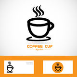 Coffe cup orange logo Royalty Free Stock Photography