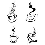 Coffe cup shape.  illustration Stock Image