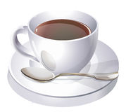 Coffe cup and spoon Stock Photo