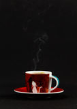Сoffe cup with steam Stock Image