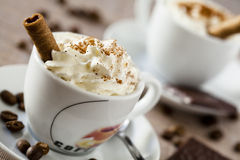 Coffe Cup and Sweets Stock Image
