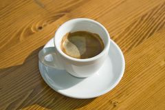 Coffe cup on the table. Single coffe cup on the table Stock Photos