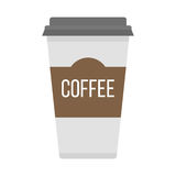 Coffe cup take away vector illustration. Stock Photography