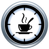 Coffe Cup and Time Royalty Free Stock Photos