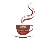 Coffe cup with type design Stock Images