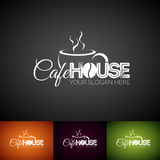 Coffe Cup Vector Logo Design Template. Set of Cofe Shop label illustration with various color. Stock Images