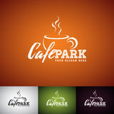 Coffe Cup Vector Logo Design Template. Set of Cofe Shop label illustration with various color. Stock Photo