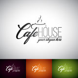 Coffe Cup Vector Logo Design Template. Set of Cofe Shop label illustration with various color. Stock Photography