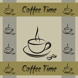 Coffe cup walpaper pattern Royalty Free Stock Photos
