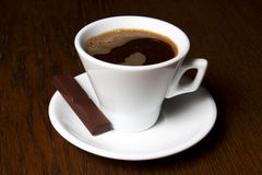 Coffe Cups Chocolate Candy. And Coffee Beans Stock Image