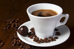 Coffe Cups Chocolate Candy Royalty Free Stock Images