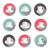 Coffe cups icons set Royalty Free Stock Photography