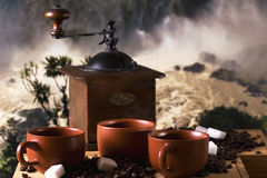 coffe cups tre Arkivfoton