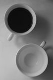 Coffe cups yin yang Royalty Free Stock Photo