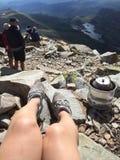 Coffe czas przy Gaustadtoppen Rjukan zdjęcie royalty free