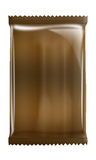Coffe - czekolada - aluminium - Kruszcowy torba pakunek odizolowywający na białym tle Obrazy Stock