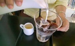 Coffe del latte del hielo Imagenes de archivo