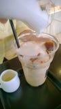 Coffe del latte del hielo Imágenes de archivo libres de regalías