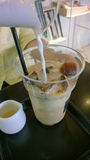 Coffe del latte del hielo Foto de archivo libre de regalías