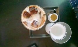 Coffe del latte del hielo Fotografía de archivo