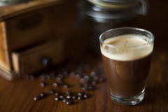 Coffe di buio di mattina Fotografie Stock