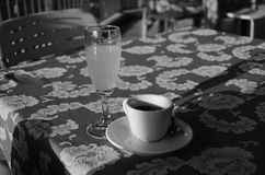 Coffe and drink. Coffe and deink in relax royalty free stock images
