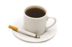 Coffe e cigarro Fotos de Stock Royalty Free