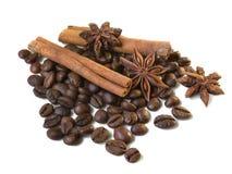 Coffe e especiarias Fotos de Stock Royalty Free