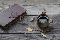 Coffe e vetri Fotografie Stock