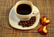 Coffe ed amore Fotografie Stock Libere da Diritti