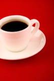 Coffe en fondo rojo imagen de archivo libre de regalías
