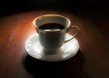 Coffe en la tabla Imágenes de archivo libres de regalías