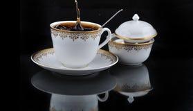 Coffe en plons Stock Afbeeldingen