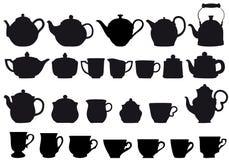 Coffe en thee vector illustratie
