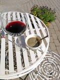 Coffe en wijn Royalty-vrije Stock Afbeelding