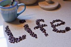 Coffe es vida Fotografía de archivo libre de regalías