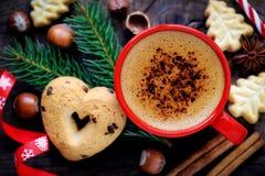 Coffe et biscuits de Noël Images libres de droits