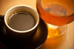 Coffe et eau-de-vie fine Image stock